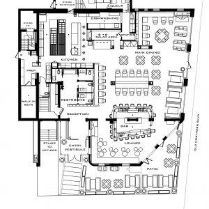 KYMA Restaurant - Fine Dining - Roslyn, NY - Floor Plan