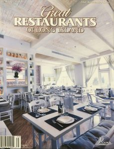 Article Featuring Paris Kostopoulos Interior Design Work On Kyma Restaurant Located In Roslyn NY Click Here To Download PDF